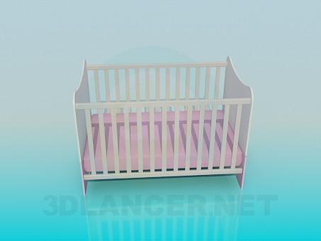3d модель Ліжечко в дитячу кімнату – превью