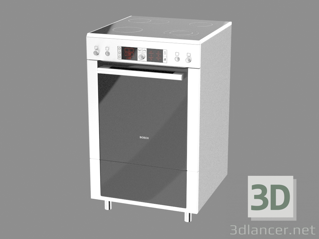 3 डी मॉडल इलेक्ट्रिक कुकर HCE854451A - पूर्वावलोकन