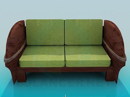 3d modeling Sofa-bench model free download