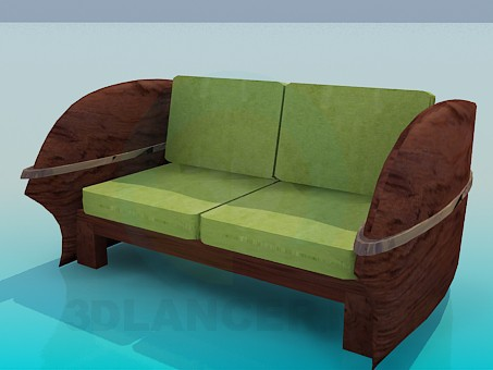 3d model Sofa-bench - preview