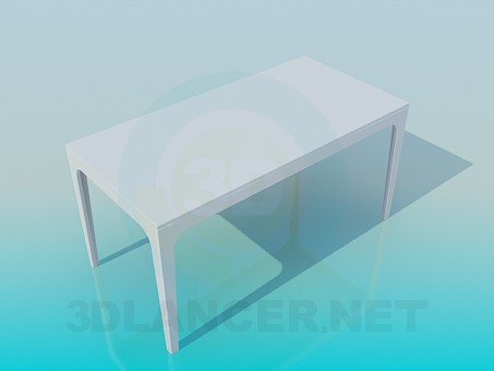3d модель Прямокутний стіл – превью