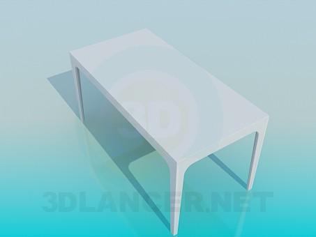 3d model Rectangular table - preview