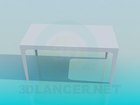 3d модель Прямоугольный стол – превью