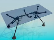 Glass table with suction cups
