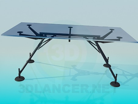 3d model Glass table with suction cups - preview