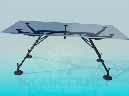 3d модель Стеклянный стол на присосках – превью
