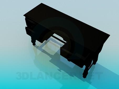 3d моделирование Деревянный письменный стол модель скачать бесплатно