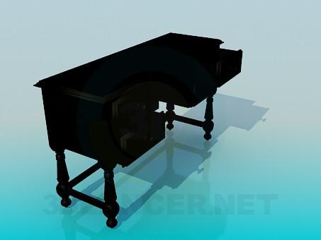 3d model Wooden desk - preview