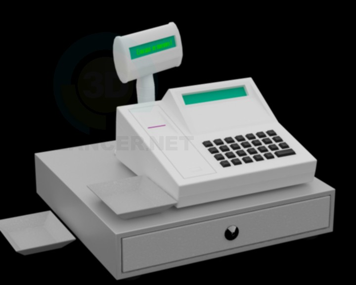 3d modeling cash register model free download