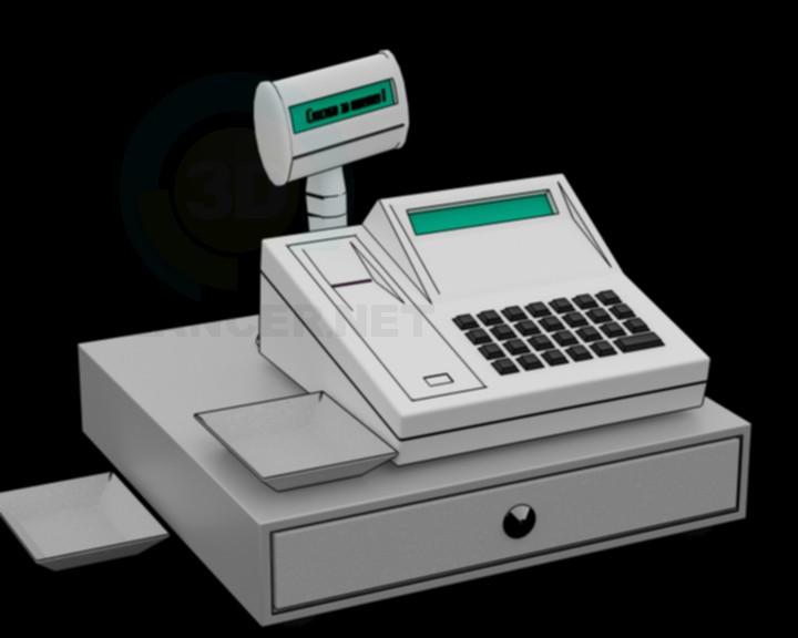 3d модель касовий апарат – превью