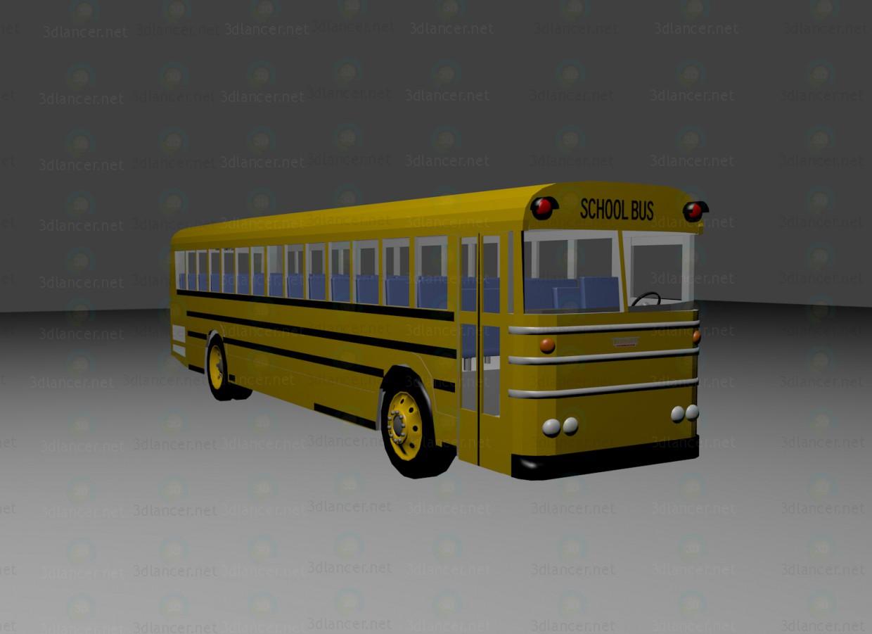 3d моделирование Томас Saf-T-Liner школьный автобус модель скачать бесплатно