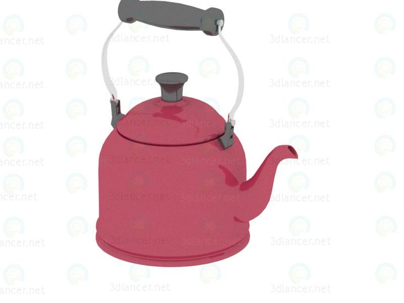 3d моделирование Красный чайник модель скачать бесплатно