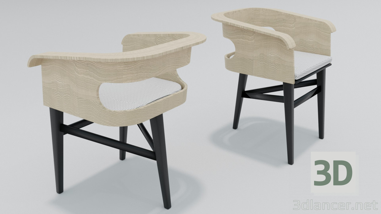 3d model Arm Chair - preview