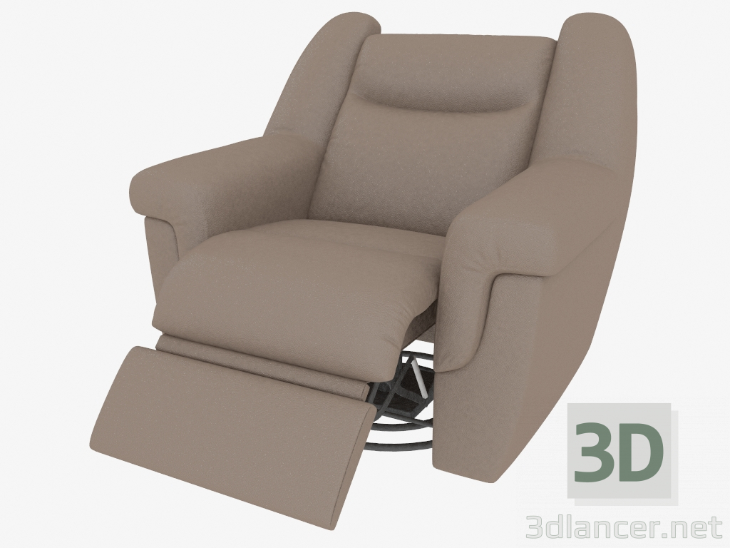 3D model armchair with footrest xxl