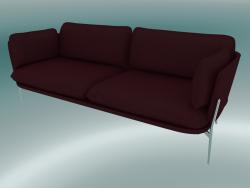 Sofa Sofa (LN3.2, 84x220 H 75cm, Chromed legs, Sunniva 2 662)