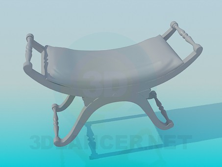 modelo 3D Taburete original - escuchar