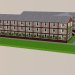 3d model Three-storey building - preview