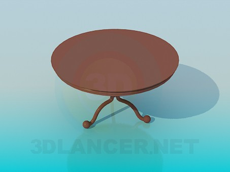 3d modeling Round tea table model free download