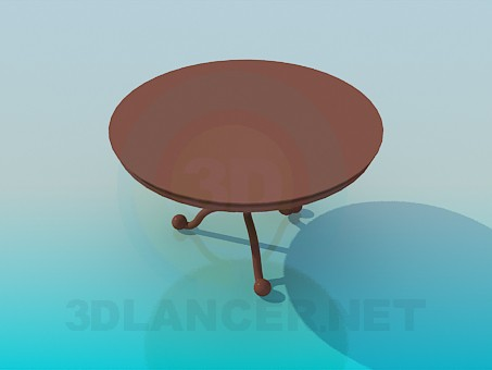 3d model Round tea table - preview