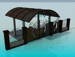 गेट्स और गेट में यार्ड, carport