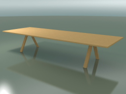 Table with standard worktop 5000 (H 74 - 390 x 135 cm, natural oak, composition 1)