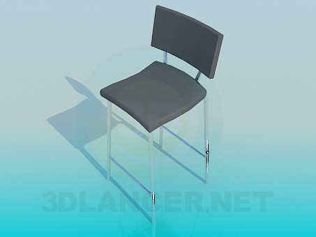 3d model High chair with legs - preview