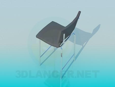 3d модель Стул с высокими ножками – превью