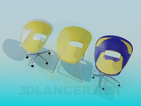 3d model Set chairs for Cafe - preview