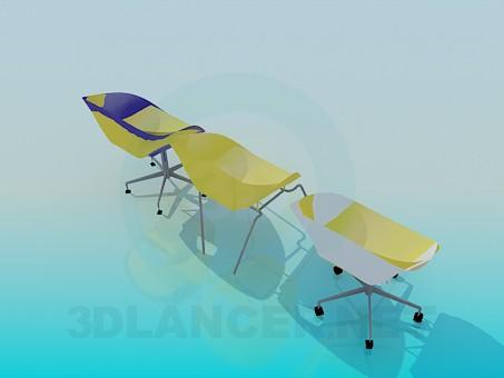 modelo 3D Sets sillas para Cafe - escuchar