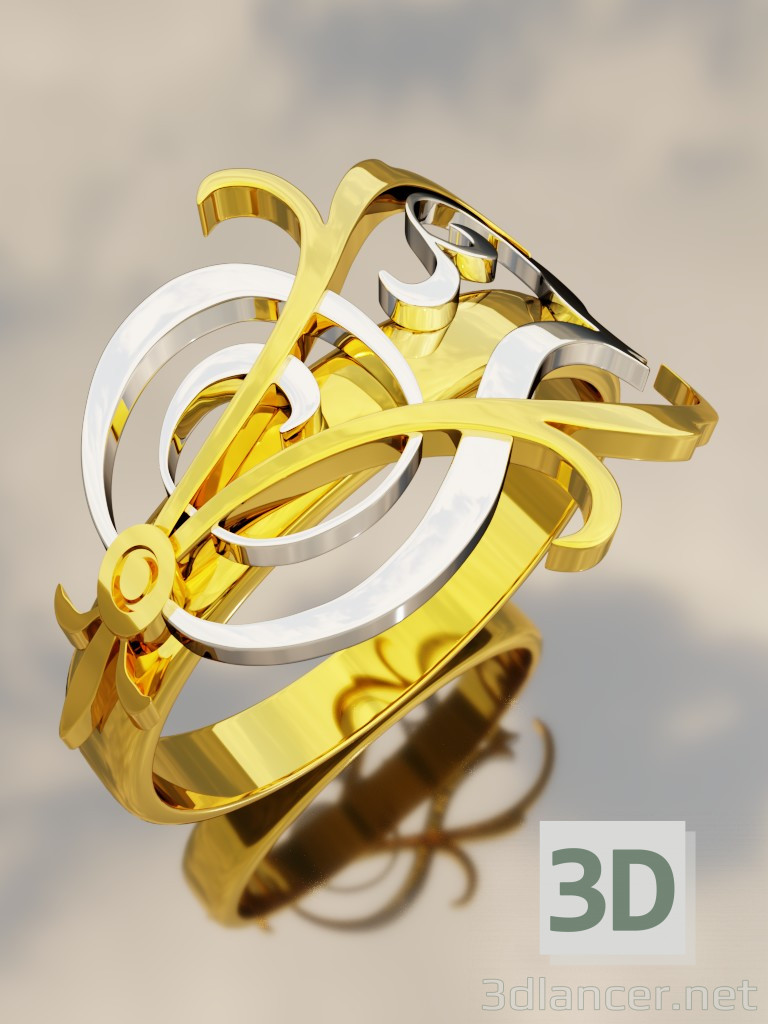 3d model Ring with the Monogram - preview