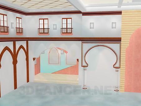 3d modeling Interior model free download