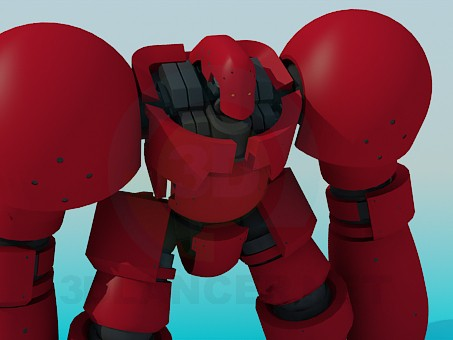 3d modeling Toy robot model free download