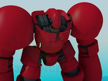 modelo 3D Robot de juguete - escuchar