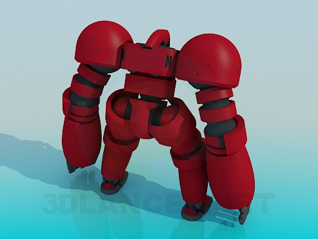 3d model Toy robot - preview