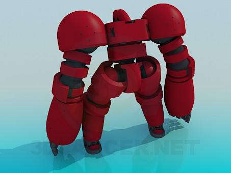 3d модель Игрушечный робот – превью