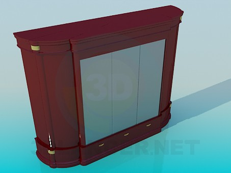 3d model Wardrobe with mirrors - preview