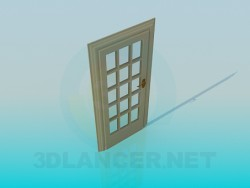 Door with glass