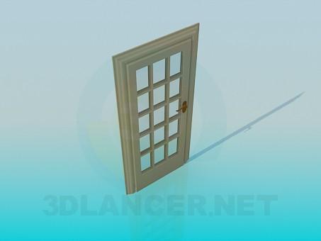 3d модель Двері зі склом – превью