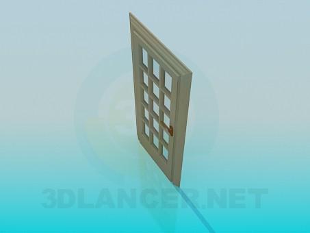 3d model Door with glass - preview