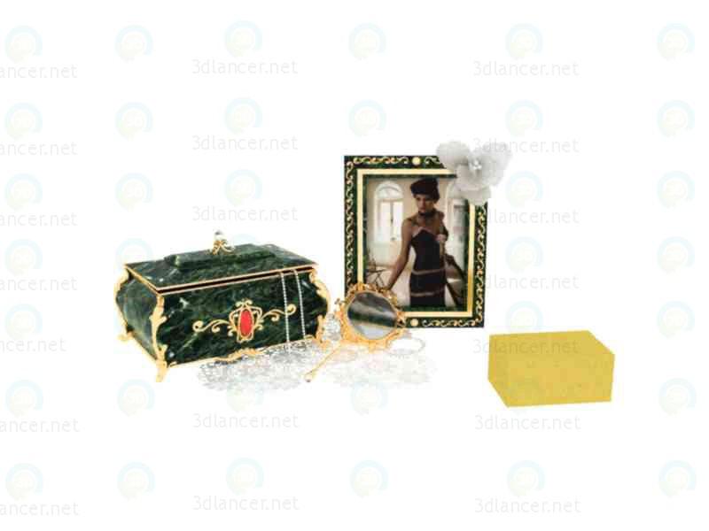 3d моделювання скринька, дзеркальце на жіночий столик модель завантажити безкоштовно