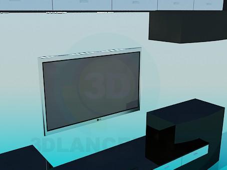 modelo 3D Los muebles de la sala de estar - escuchar