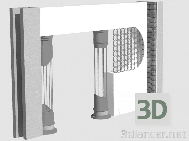 3d model Decorative columns - preview