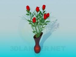 एक गुलदस्ते में गुलाब