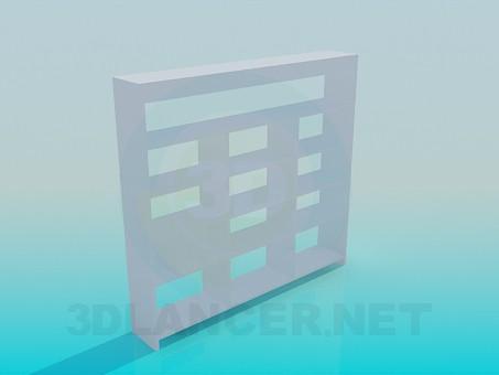 modelo 3D Estante de la literatura - escuchar