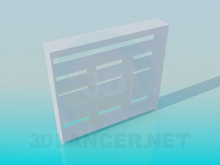 3d model Literature rack - preview