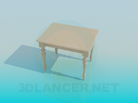 3d modeling Table model free download