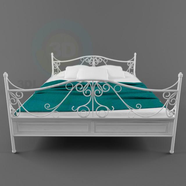 3d modeling Vintage bed model free download