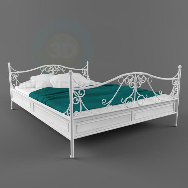 3d модель Винтажная кровать – превью