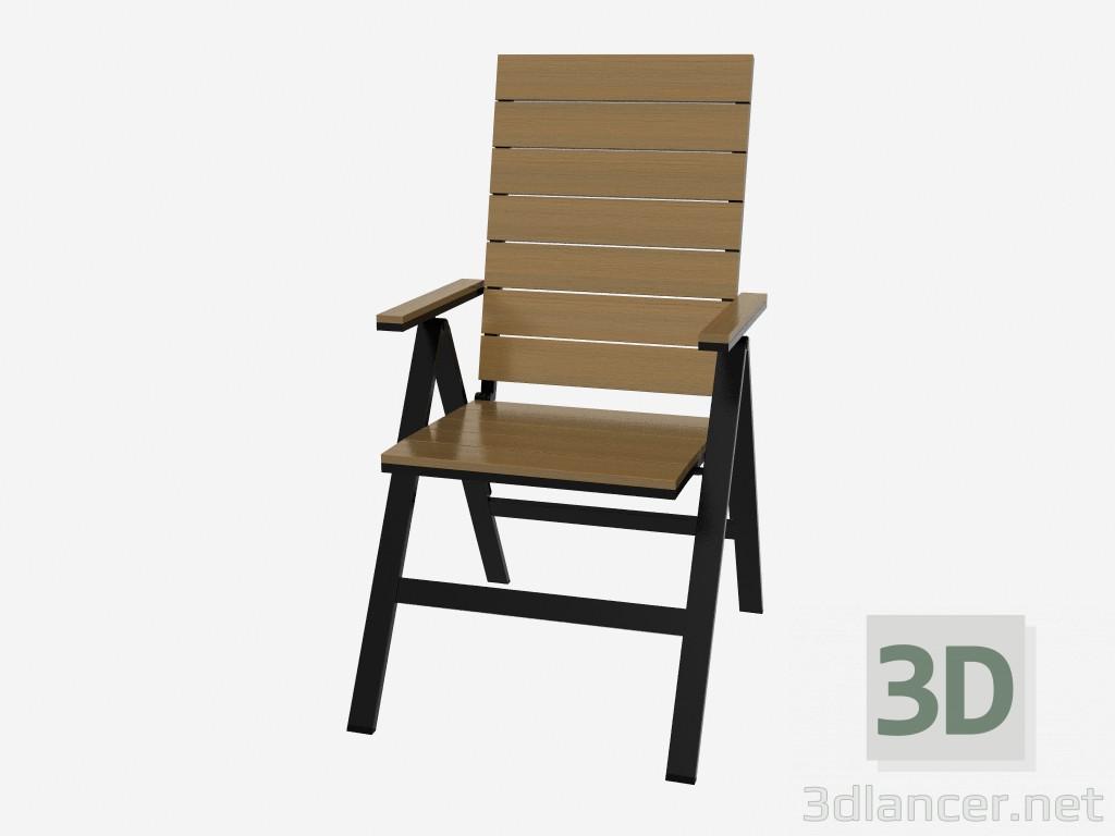 3d модель Кресло откидывающееся (темное) – превью