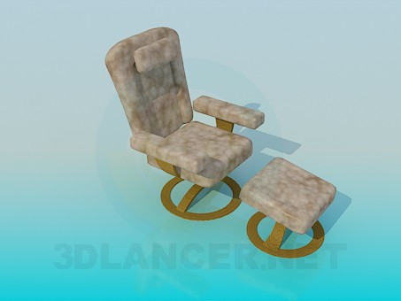 3d model Armchair with adjustable feet - preview